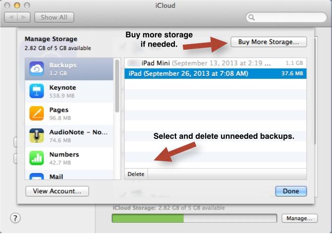 how to buy more icloud stroage