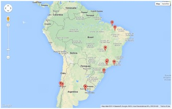 Page Visits - South America