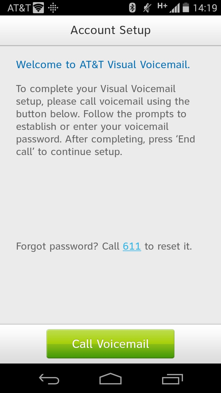 at&t voicemail password iphone 5