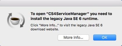 Apple Mac: Legacy Java SE 6 Runtime and Java Command-Line Tool JDK
