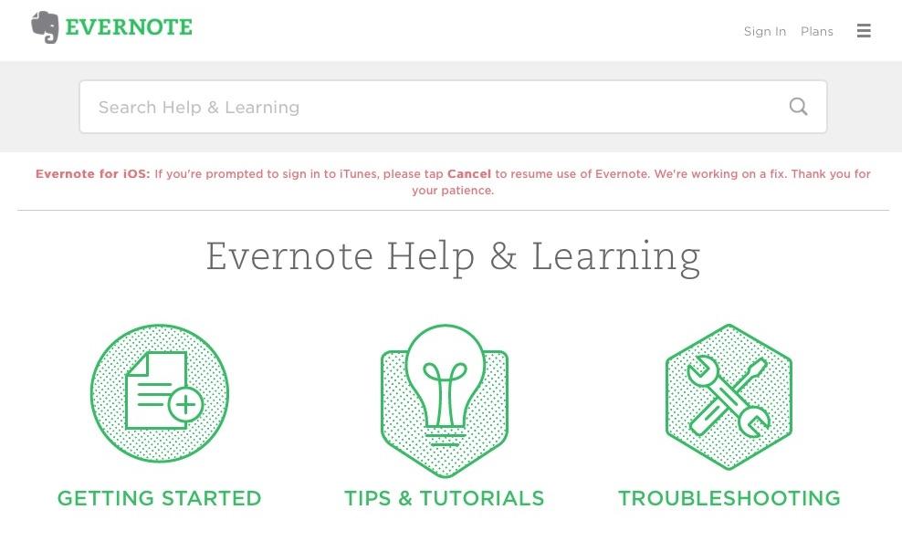 Evernote – Apple iTunes Login on iOS iPhone iPad – Iowa City
