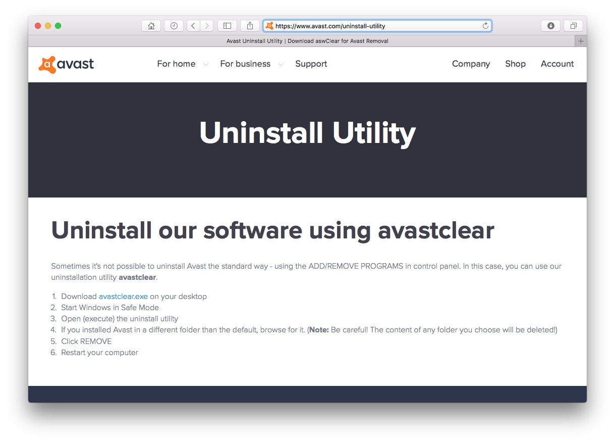 can avast remove files