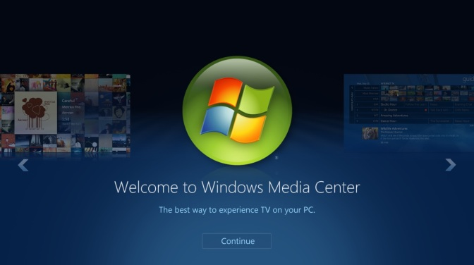 Disable Windows Media Center