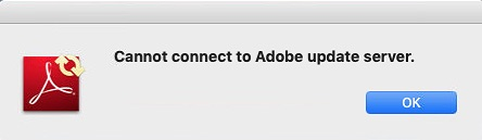 """SOLVED: """"Cannot connect to Adobe update server """" – Iowa City"""